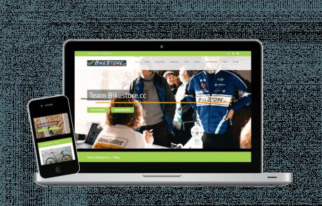 Vereinswebseite und Blog Erstellung Bikestore.cc - PKOM Online Werbeagentur Wien