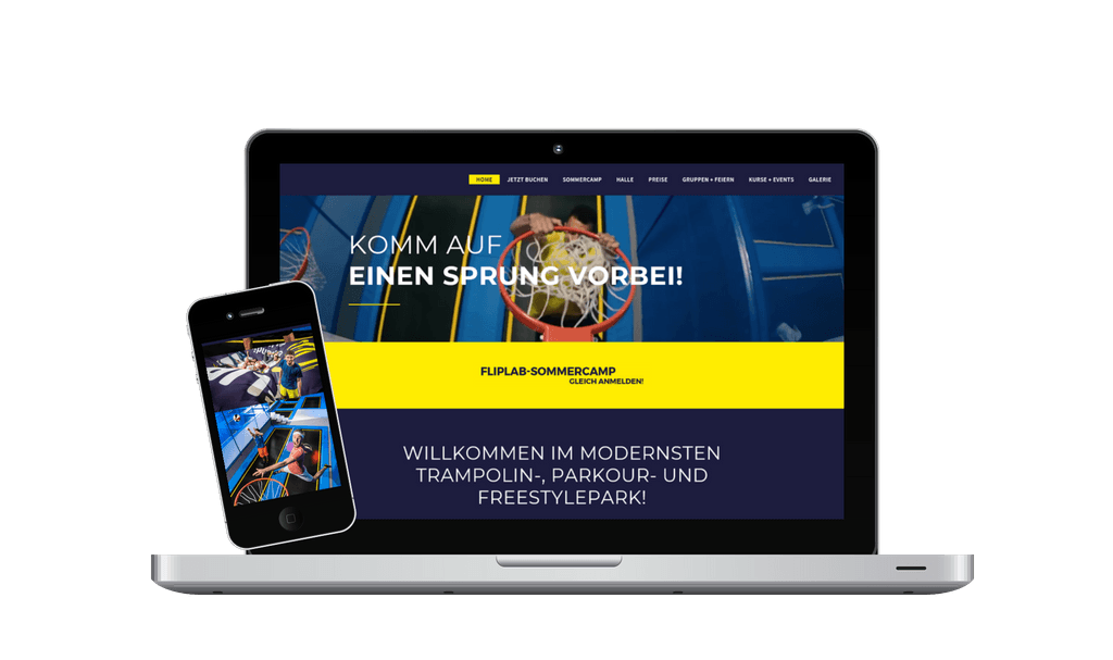 Webseite Content Management und Online Marketing Fliplab - PKOM Webagentur Wien