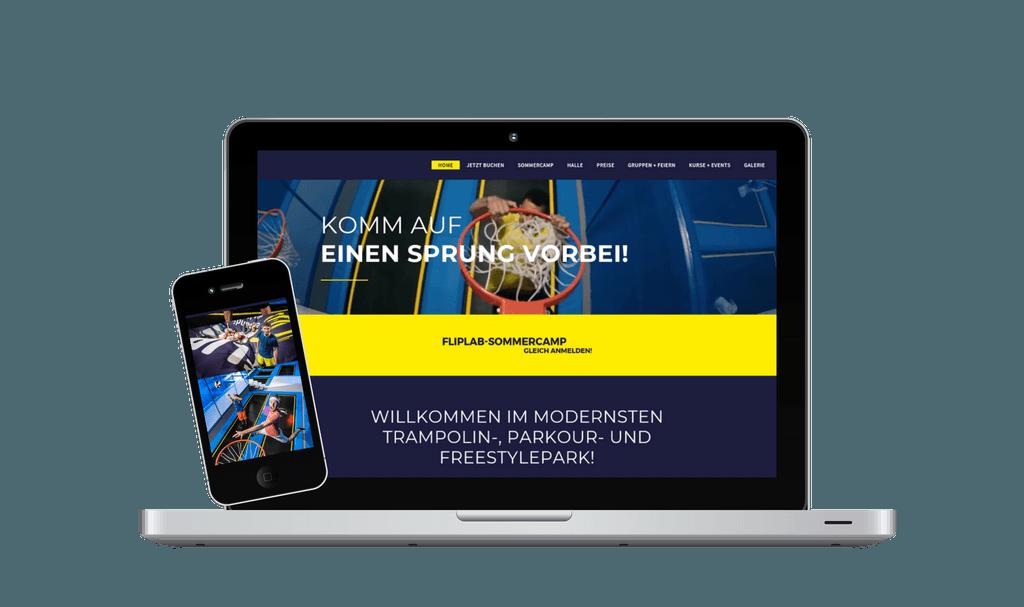 Webseite Content Management und Online Marketing Fliplab - PKOM Webagentur Wien