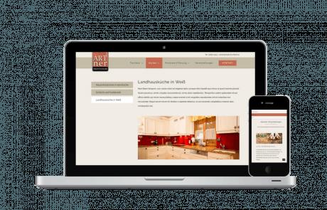 Webseite und Blog Erstellung Tischlerei Artner - PKOM Online Werbeagentur Wien