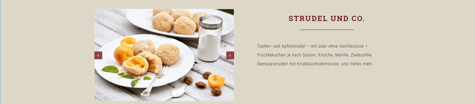 Webseiten Erstellung Heuriger Hirt Speisen - PKOM Webagentur Wien