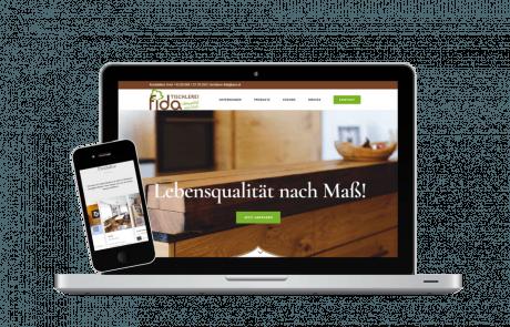 Webseiten Erstellung Tischlerei Fida - PKOM Webagentur Wien
