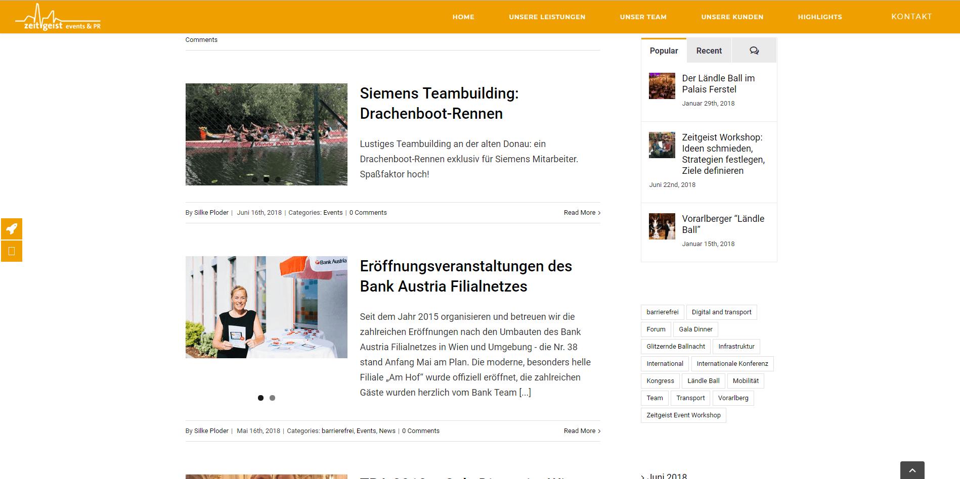 Webseiten Erstellung Zeitgeist Blog - PKOM Webagentur Wien
