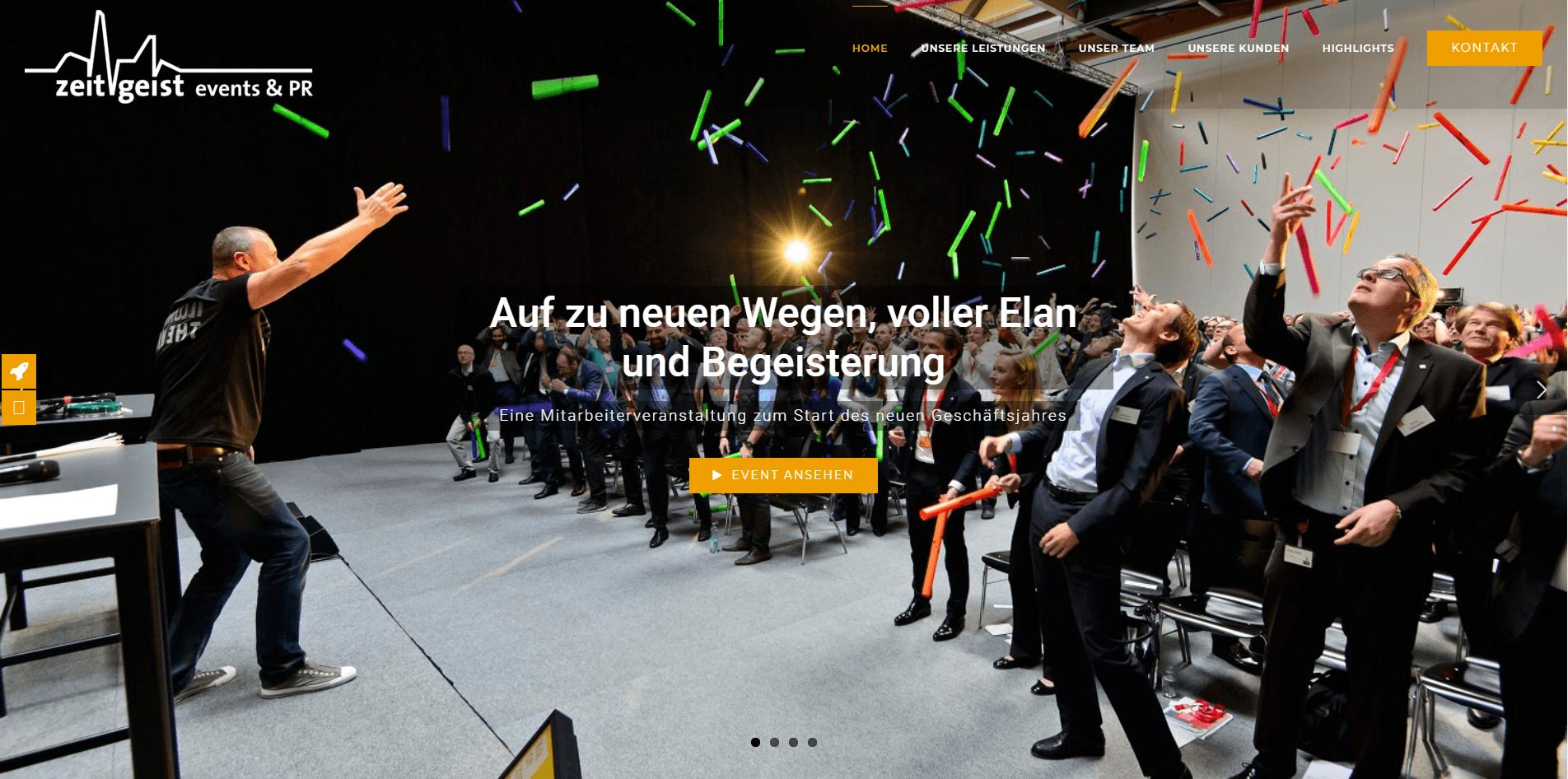 Webseiten Erstellung Zeitgeist Header - PKOM Webagentur Wien