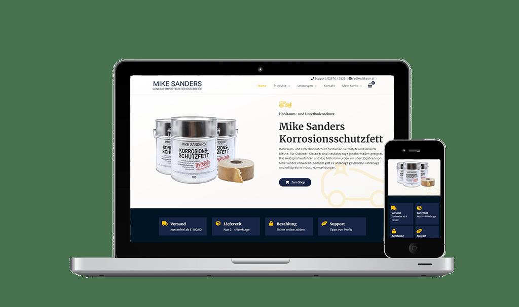 Webshop Erstellung und SEO Mike Sanders - PKOM Online Werbeagentur Wien