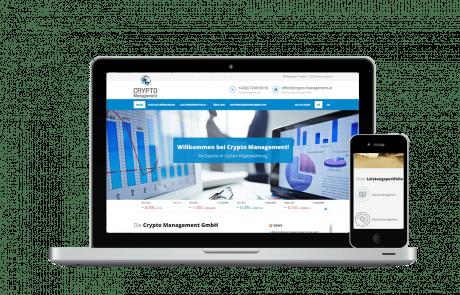 Website Erstellung und SEO Crypto Management - PKOM Online Werbeagentur Wien