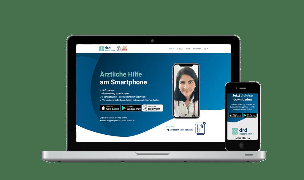 Website Erstellung und SEO DRD - PKOM Online Werbeagentur Wien