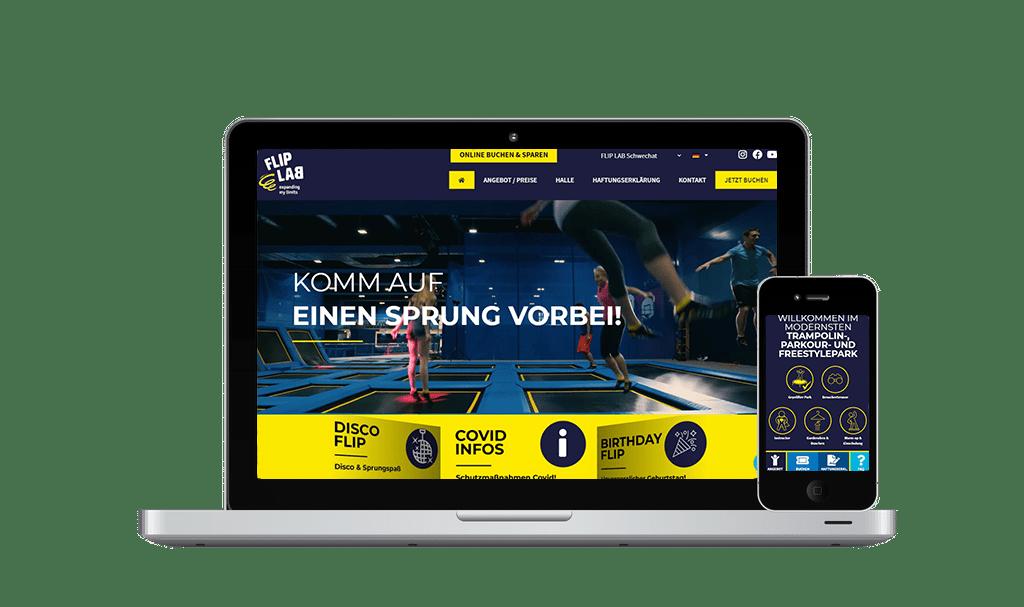 Website Erstellung und SEO Flip Lab Schwechat - PKOM Online Werbeagentur Wien
