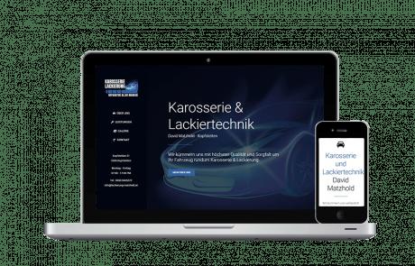 Website Erstellung und SEO Lackierung Matzhold - PKOM Online Werbeagentur Wien
