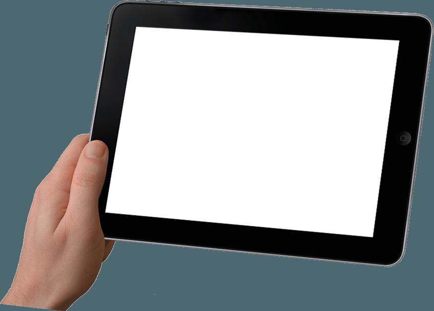 Tablet Hintergrund mit Hand